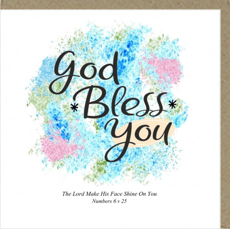 PM God Bless You Greetings Card Code: PM446
