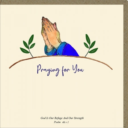 Praying for You Greeting Card Code: PM498