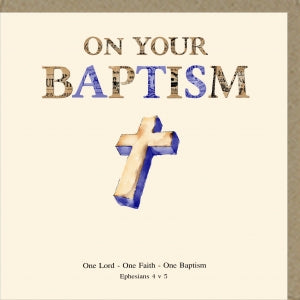 PMC On Your Baptism Greetings Card Code: PM388
