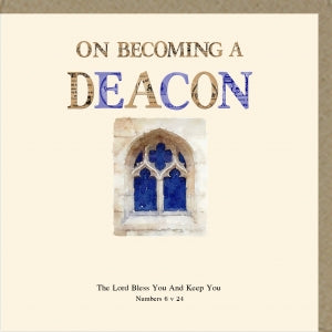 PMC On Becoming a Deacon Greetings Card Code: PM394