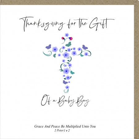 PMC Thanksgiving The Gift Of A Baby Boy Code: PM420