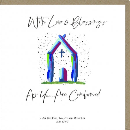 PM With Love and Blessings As You Are Confirmed Greetings Card Code: PM458
