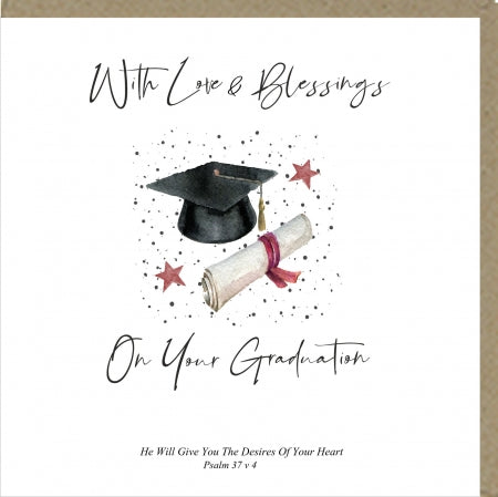 PM With love and Blessings On Your Graduation Greetings Card Code: PM463