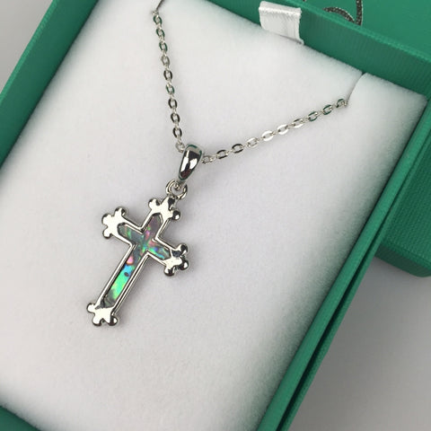 Inlaid Shell Cross Pendant Neutral Code: TJ048