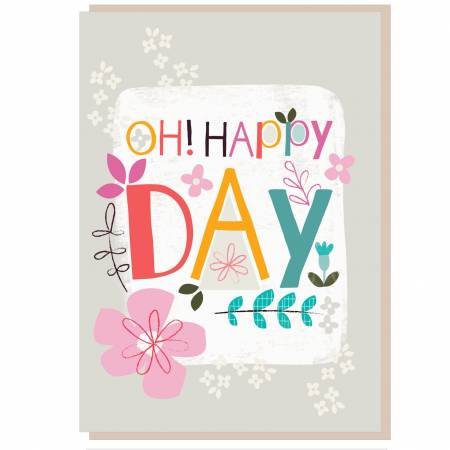 Oh Happy Day Greetings Card Code VP612