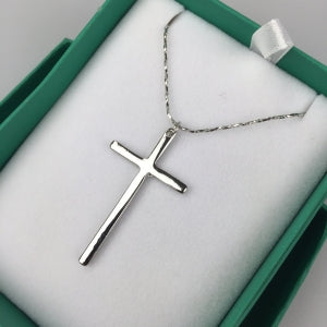 Silver Cross Pendant on Chain Code: W0044