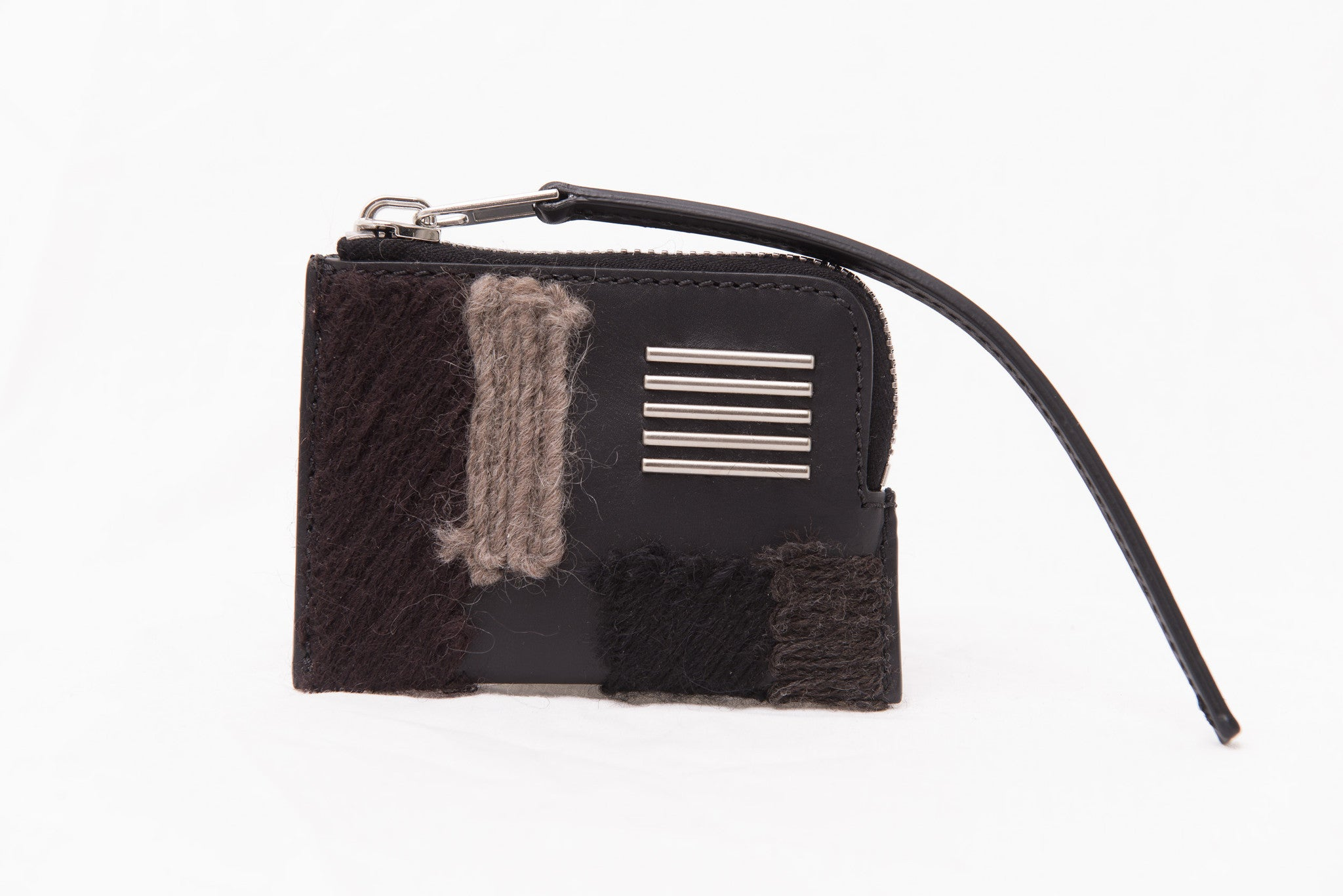 RICK OWENS embroidered leather pouch