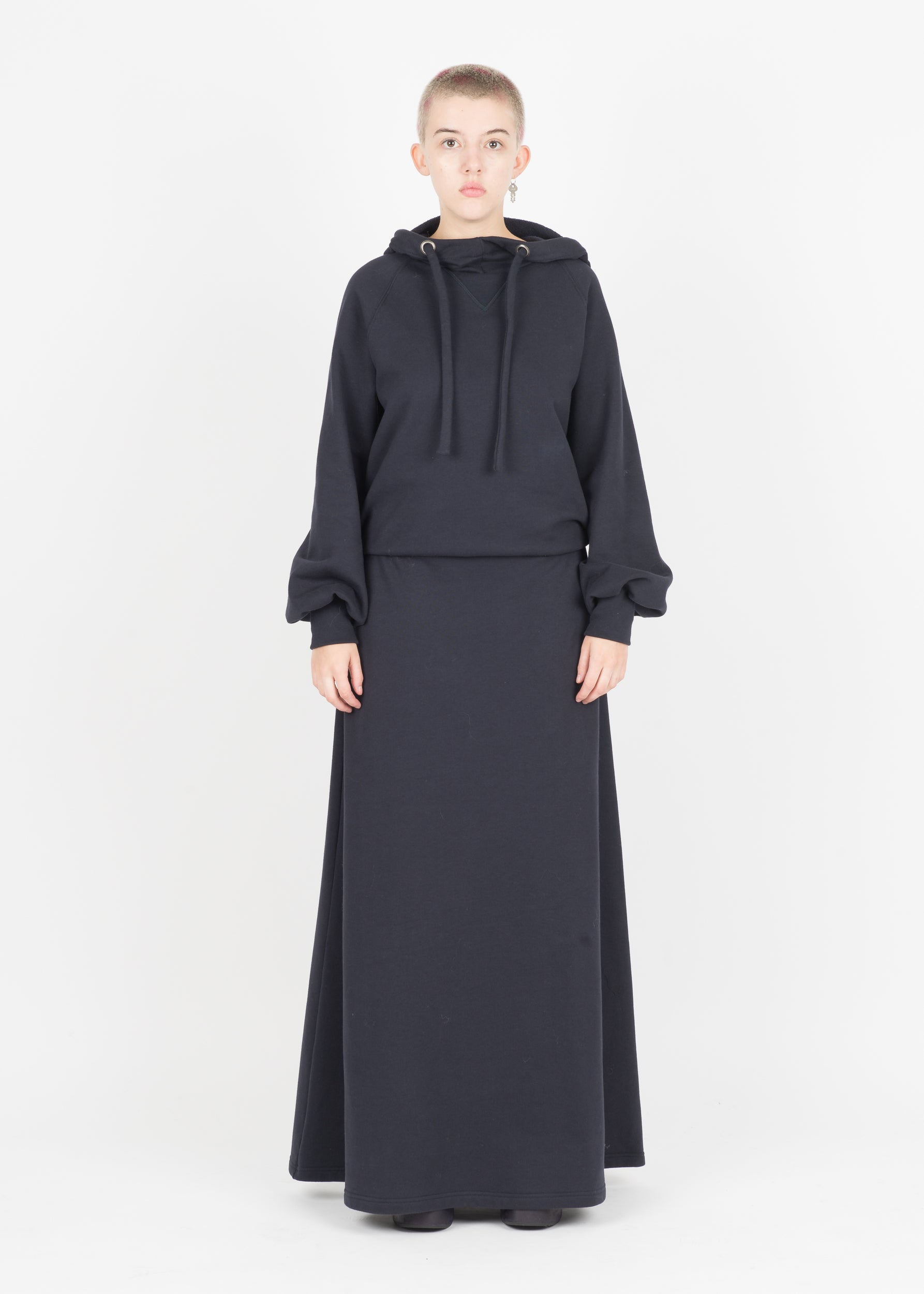 MAISON MARGIELA A/W 17 HOODED JERSEY MAXI DRESS