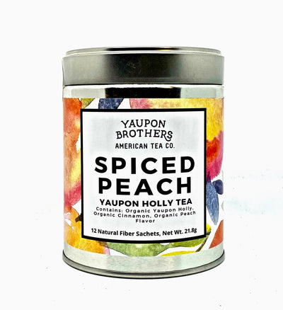 Spiced Peach Yaupon Tea (12 teabags)