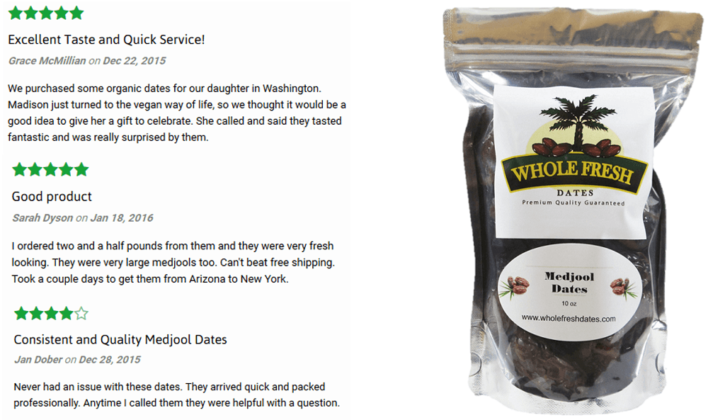 Whole Fresh Dates Reviews