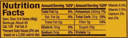 Degelt Noor Nutrition Facts