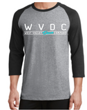 Port and Company Core blend 3/4 Sleeve Raglan Tee (Athletic Heather and Black)