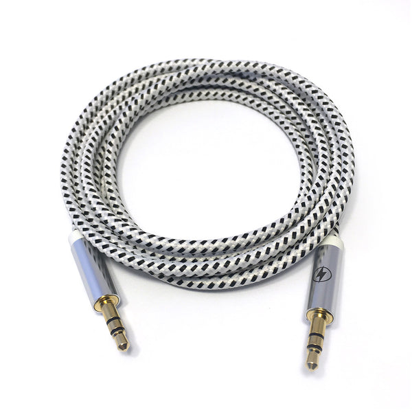 Black and White Auxiliary Cable