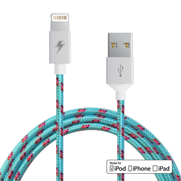 Cotton Candy Lightning Cable for iPhone, iPad, iPod [MFi Certified] - 9 Feet (3m)