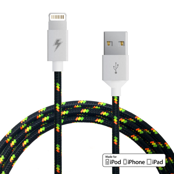 Jah Lightning Cable for iPhone, iPad, iPod [MFi Certified]