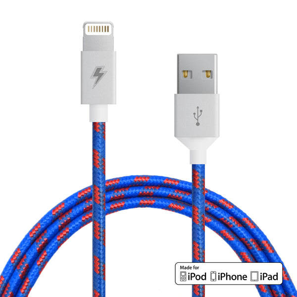 Varsity Lightning Cable for iPhone, iPad, iPod [MFi Certified]