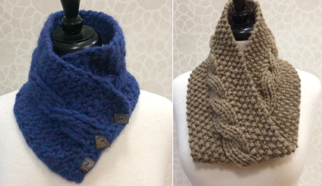 Crochet One, Knit One Too Neck Warmers
