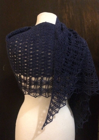 Stormy Night Crochet Shawl Pattern