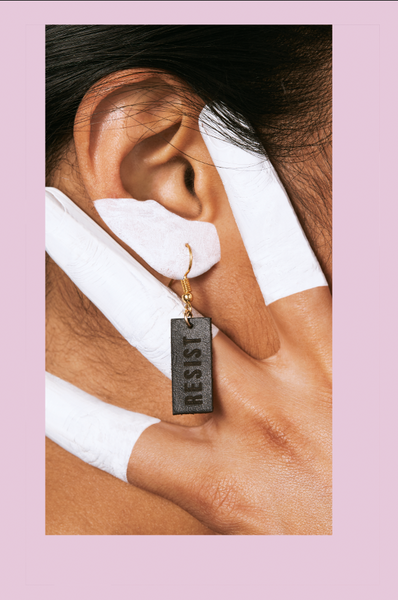 RESIST Leather Earrings