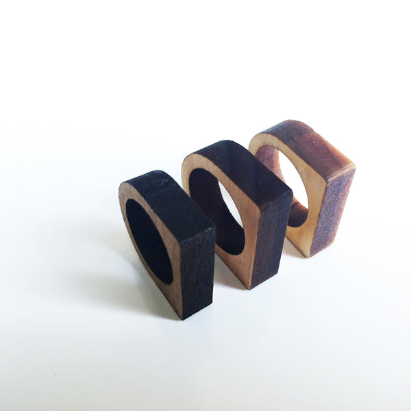 Wooden Laser-cut Ring - Azmara Asefa - 1