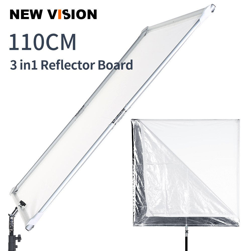 110cm 43in Scrim Large Silver Diffuser Reflector Collapsible Aluminum Alloy Frame with Angle - Mode de vie Photography and Photo Presets