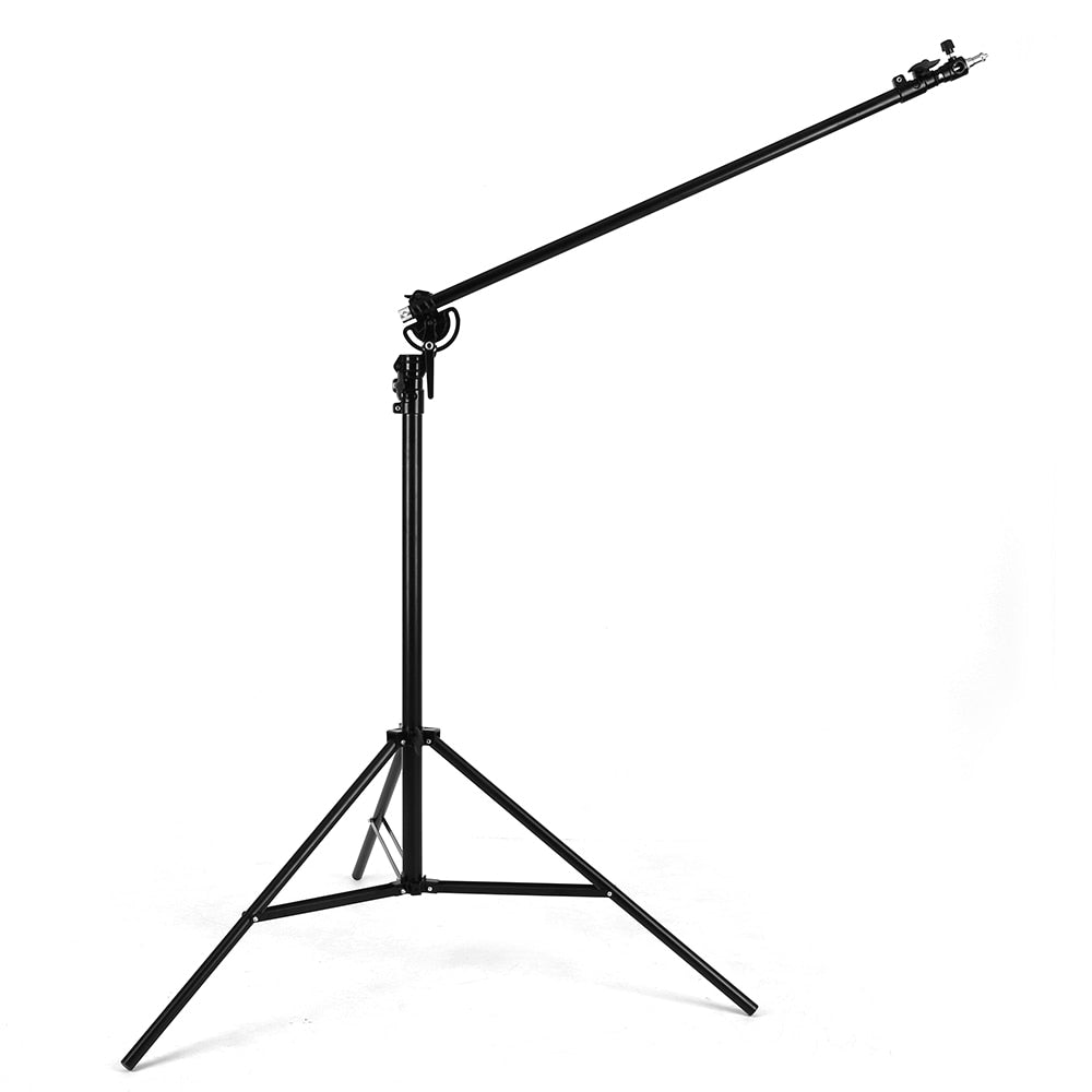 "126"" 320cm Two Way Rotatable Aluminum Adjustable Tripod Boom Light Stand with Sandbag - Mode de vie Photography and Photo Presets"