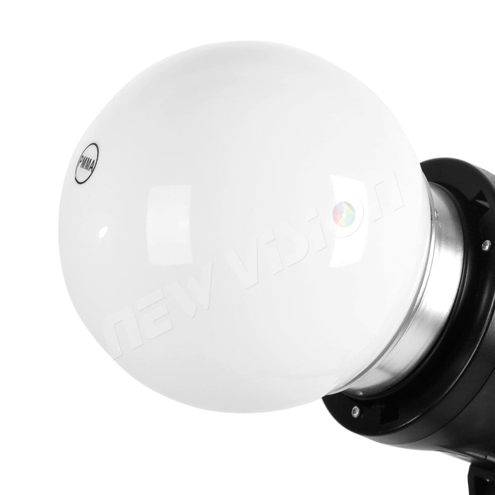 15cm Universal Photography Diffuser Soft Ball Dome Softbox Studio Flash Bowens Mount - Mode de vie Photography and Photo Presets