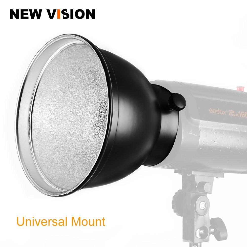 "180mm 7"" Standard Reflector Universal Mount for Godox K-180A K-150A 300SDI 250SDI E250 - Mode de vie Photography and Photo Presets"