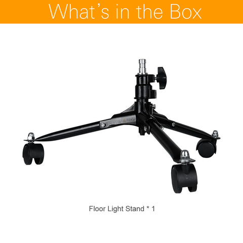 20cm Durable Folding Dolly Wheels Floor Light Stand - Mode de vie Photography and Photo Presets