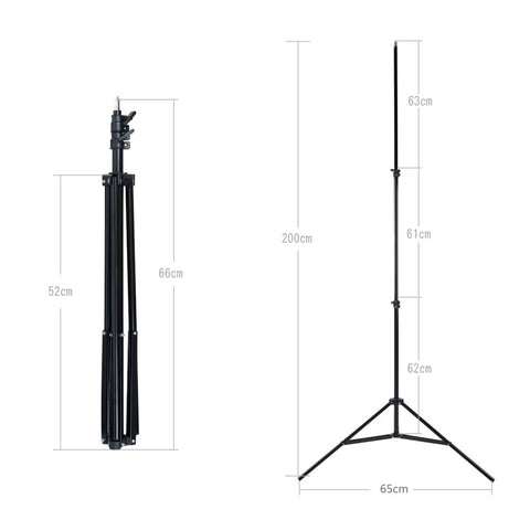 2pcs Godox 302 200cm Light Stand Tripod With 1/4 Screw Head with Camera Tripod Lamp - Mode de vie Photography and Photo Presets