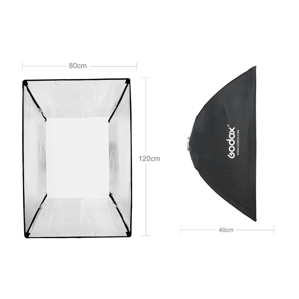 "2x Godox 32""x 47"" 80x120cm Honeycomb Grid Softbox soft box with Bowens Mount for Studio - Mode de vie Photography and Photo Presets"