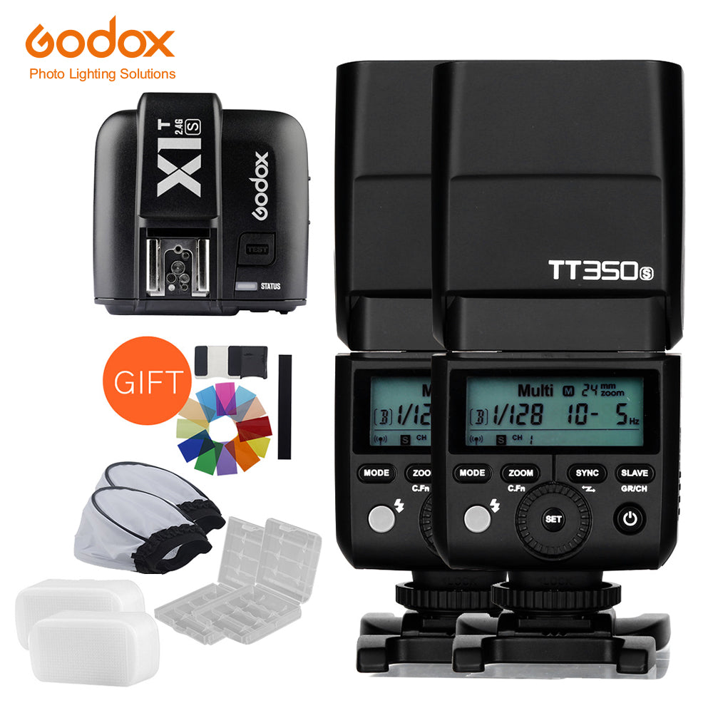 2x Godox Mini Speedlite TT350S Camera Flash TTL HSS GN36 +X1T-S Transmitter for Sony - Mode de vie Photography and Photo Presets