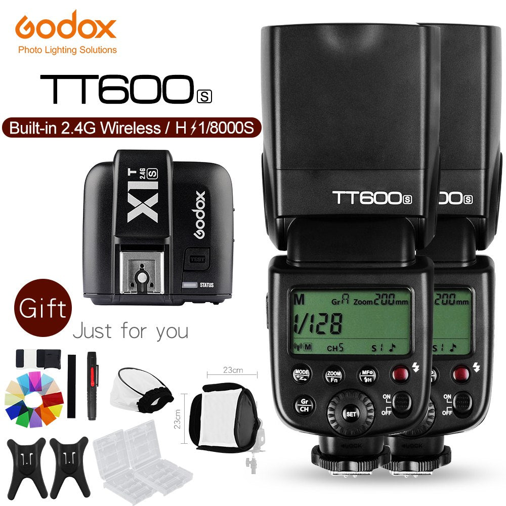 2x Godox TT600S 2.4G Camera Flash Speedlite + X1T-S Transmitter for Sony Cameras - Mode de vie Photography and Photo Presets