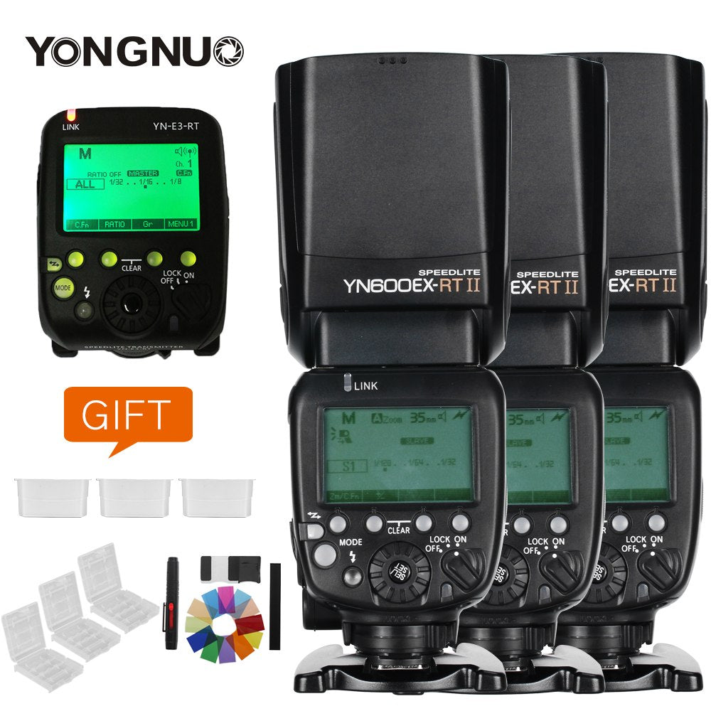 3x YONGNUO YN600EX-RT II 2.4G Wireless HSS 1/8000s Master TTL Flash Speedlite - Mode de vie Photography and Photo Presets