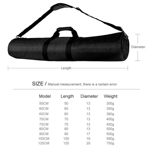 60/65/70/75/80/100/125cm Padded Camera Monopod Tripod Carrying Bag Case/Light Stand Carry Bag / Umbrella Softbox Carrying Bag - Mode de vie Photography and Photo Presets