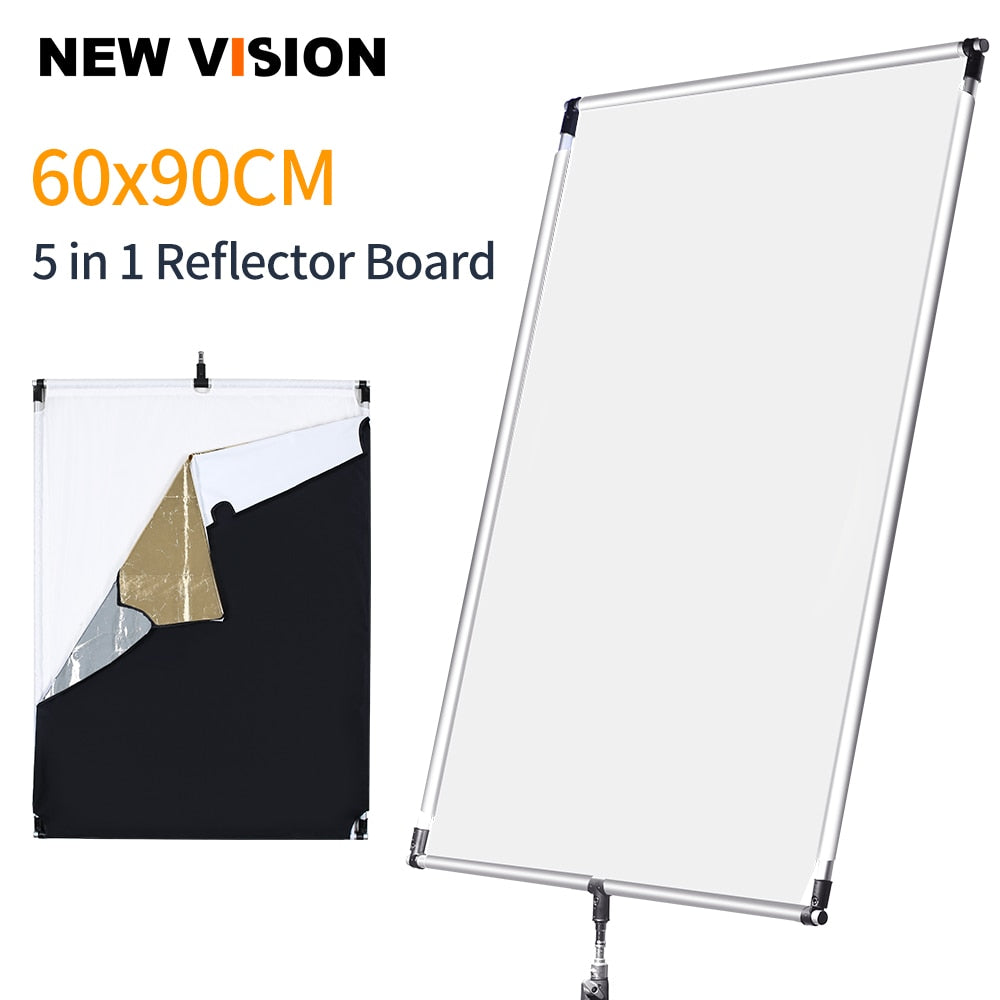 60 * 90cm 27in *  35in Sun Scrim Large 5in1 Black Silver Gold White Diffuser Reflector - Mode de vie Photography and Photo Presets