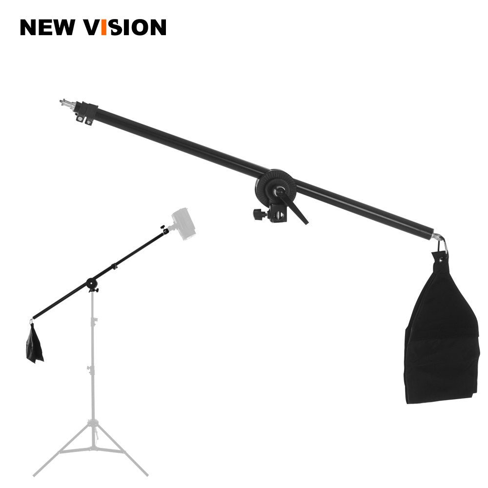 "75-140cm / 30""-55"" Studio Photo Telescopic Boom Arm Top Light w/ Sandbag for Speedlite / Mini Flash Strobe - Mode de vie Photography and Photo Presets"
