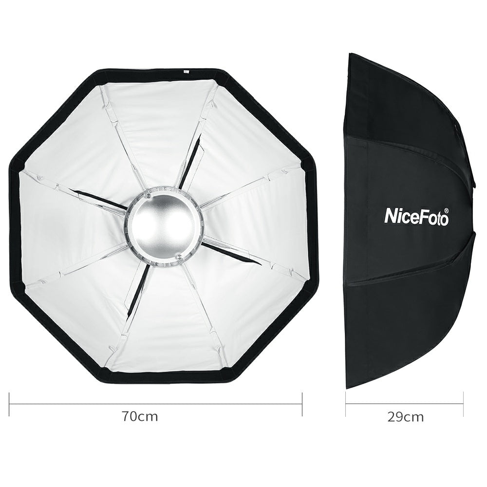 8-Pole 70cm White Beauty Dish Softbox with Honeycomb Grid Folding Beauty Flash Softbox - Mode de vie Photography and Photo Presets