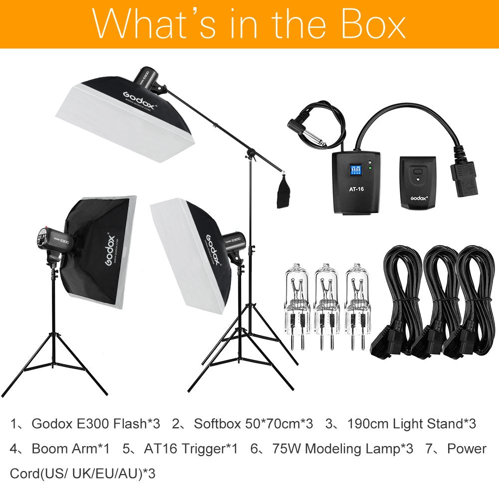 900Ws Godox Strobe Studio Flash Light Kit 900W - Mode de vie Photography and Photo Presets
