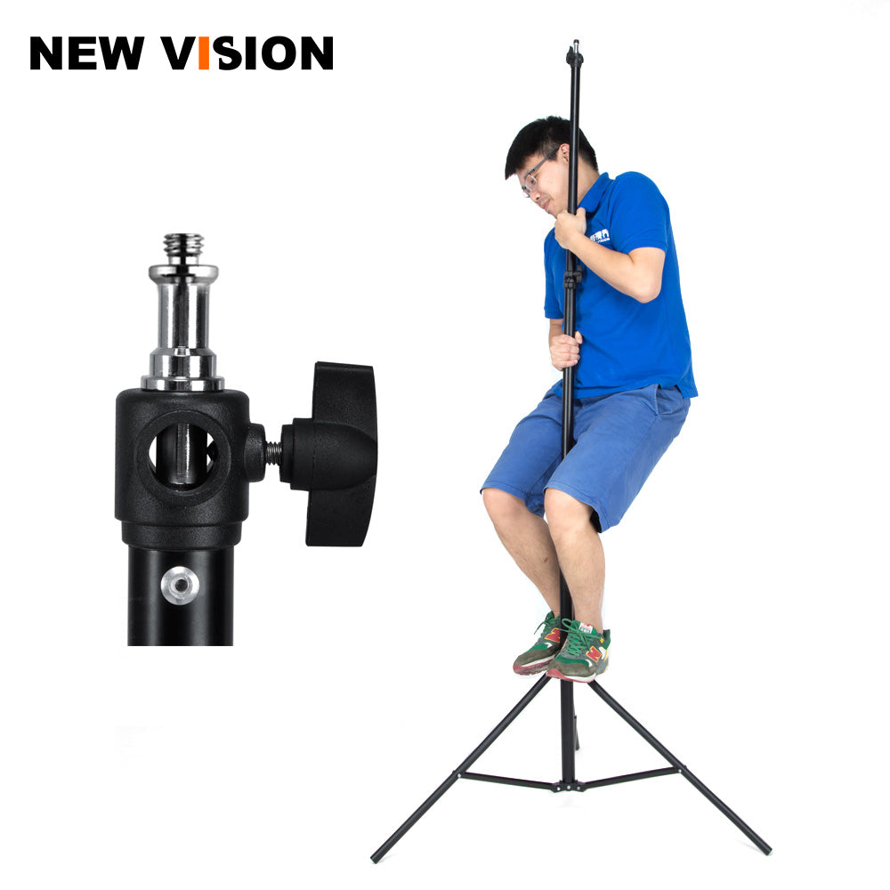 "Air Cushioned 260cm Light Stand With Included Adaptor To Also Support 1/4"" and 3/8"" Photo - Mode de vie Photography and Photo Presets"
