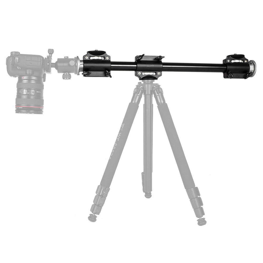Aluminum 3/8 Screw Support Tripod Arm Rock Solid Cross Bar Side Arm for 4 Heads Head - Mode de vie Photography and Photo Presets