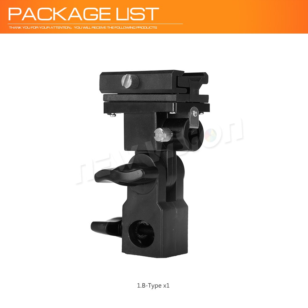 B Type Flash Hot Shoe Adapter Trigger Umbrella Holder Swivel Light Stand Bracket - Mode de vie Photography and Photo Presets