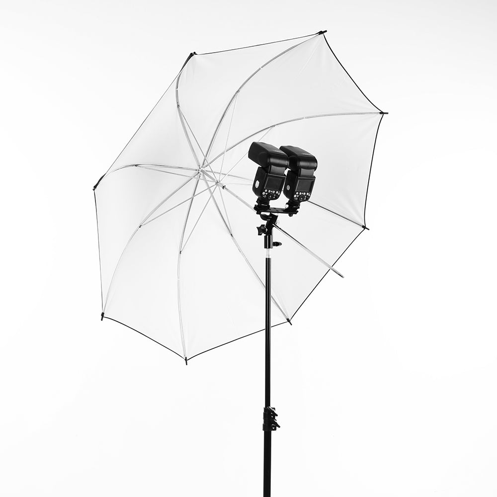 Black Swivel Camera Double Flash Umbrella Holder Hot Shoe Stand Bracket Tripod - Mode de vie Photography and Photo Presets