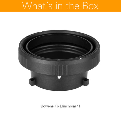 Bowens To Elinchrom Mount Ring Interchangeable Speedring Adapter Flash Strobe - Mode de vie Photography and Photo Presets