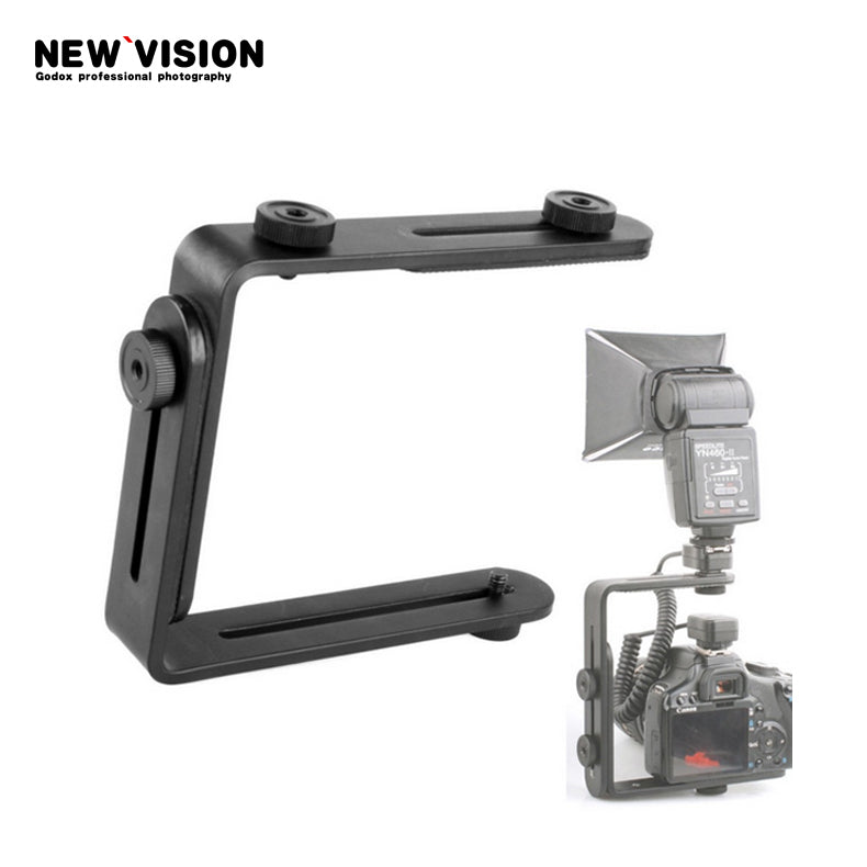 Dual-L Universal Adjustable Flash Bracket For Canon Nikon Sony Pentax Camera - Mode de vie Photography and Photo Presets