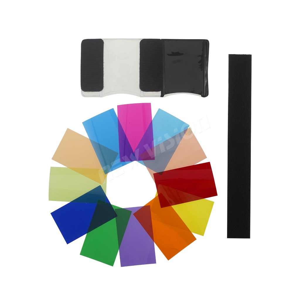 Flashlight Lamp 12 Color Shade Flash Diffuser Color Card for Canon Nikon Sony Pentax - Mode de vie Photography and Photo Presets