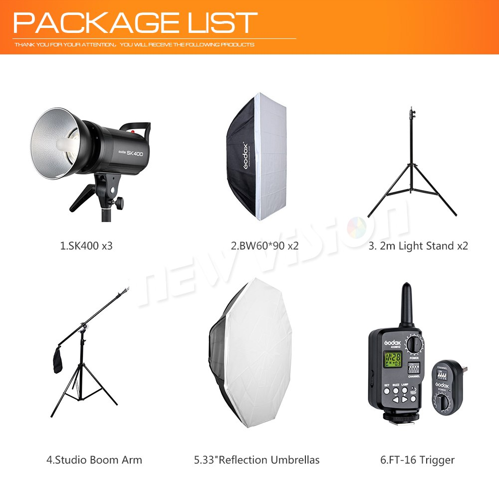 Free DHL 1200W Godox SK400 3x 400W Photo Studio - Mode de vie Photography and Photo Presets