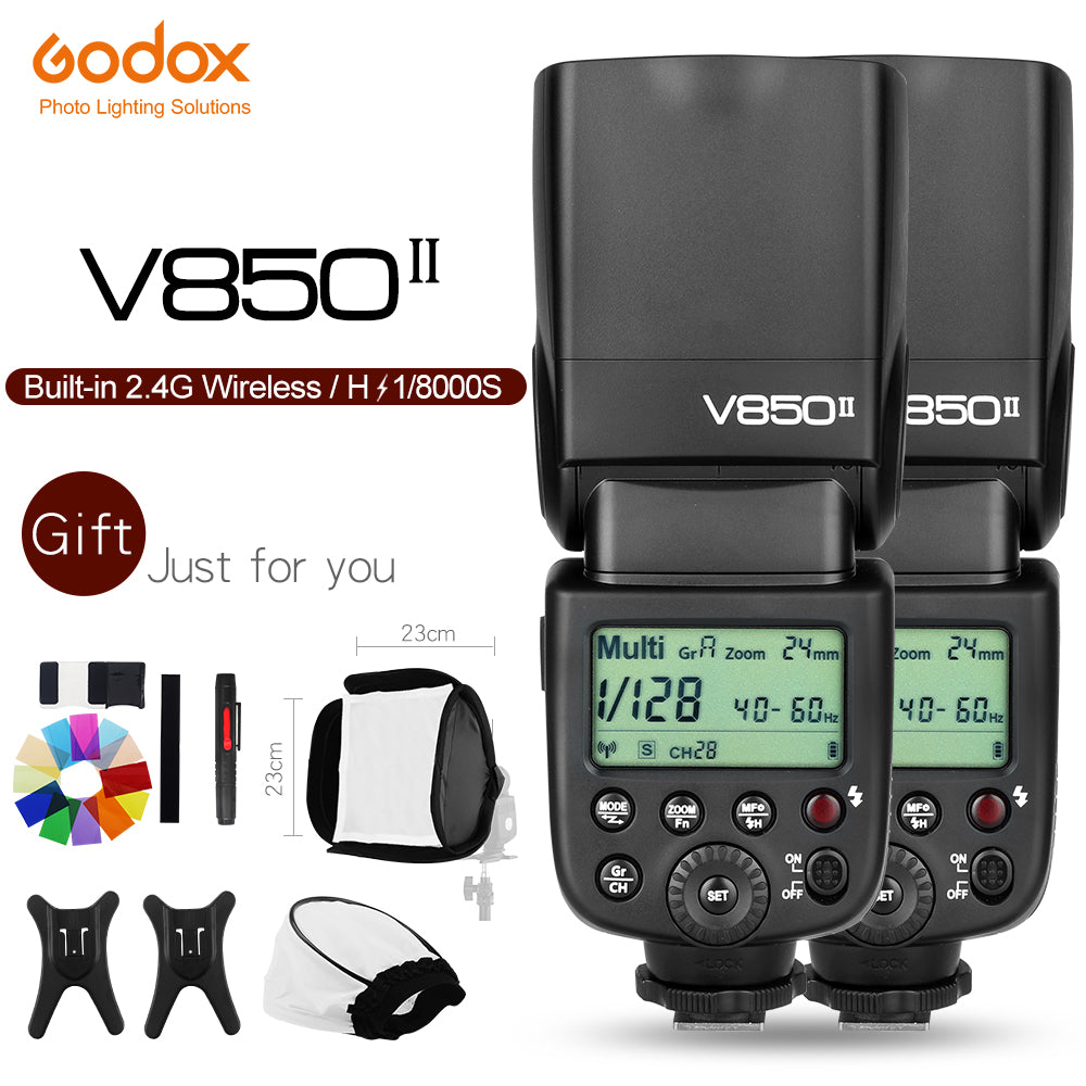 Free DHL!2x Godox V850II 2.4G GN60 Wireless Li-ion Battery Camera Flash Speedlite for Canon - Mode de vie Photography and Photo Presets