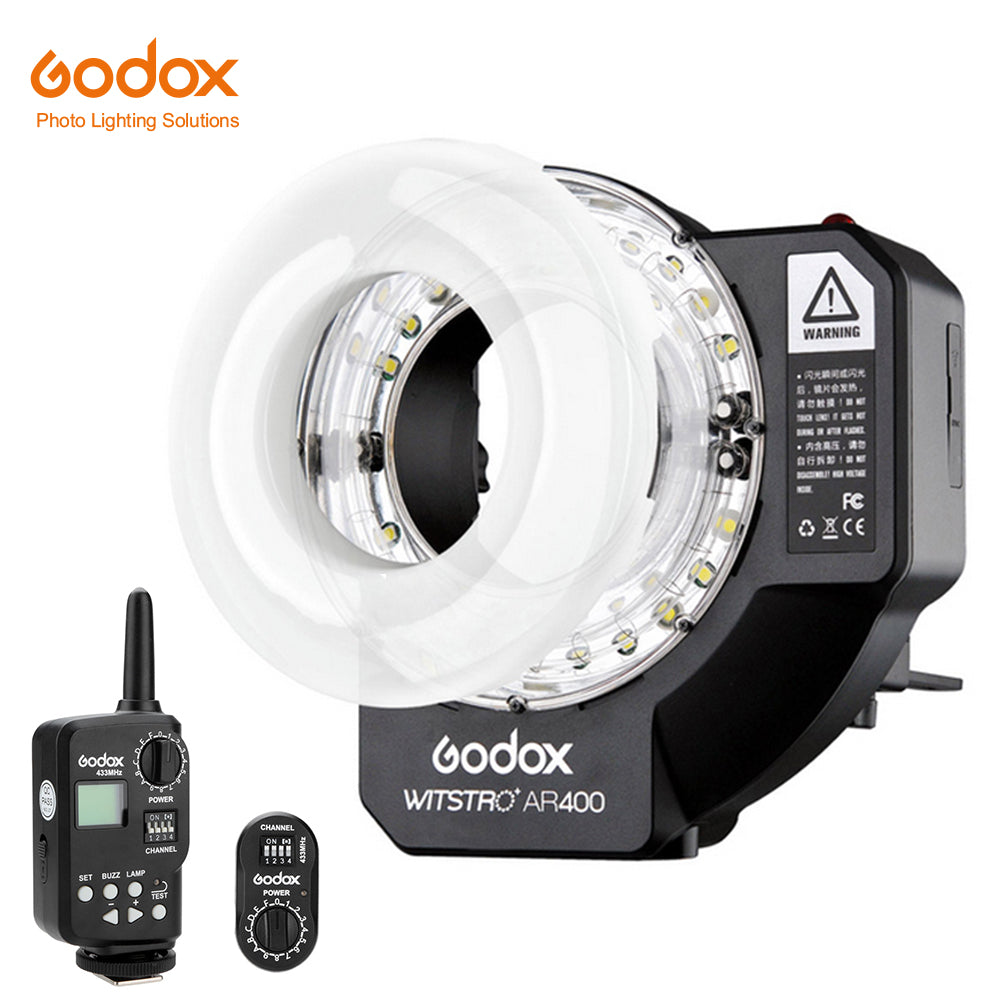 Free DHL Godox Witstro AR400 400W Li-ion Battery Ring Flash Speedlite + LED Video Light - Mode de vie Photography and Photo Presets