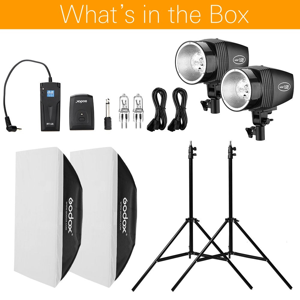 GODOX 2x 150W Photo Portrait Strobe Flash Studio Light Photography with Softbox - Mode de vie Photography and Photo Presets